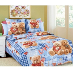 фото Детский комплект постельного белья Бамбино «Плюшевые мишки». Цвет: синий