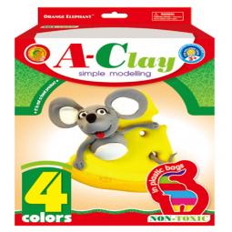 фото Набор пластилина Оранжевый Слон «Мышка с сыром»