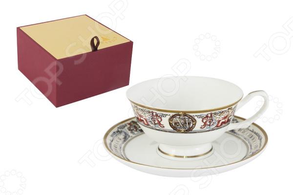 Чайная пара Emerald «Мельпомена»Чайные и кофейные пары<br>Emerald это известный бренд, который представляет собой интернациональную группу дизайнеров из Англии, Германии и Восточной Азии. Высокое качество исполнения отличает продукцию этого бренда. Поверхность изделий покрыта сверкающей глазурью, которая не содержит свинца. Оригинальный дизайн, высокое качество продукции и яркая индивидуальность каждого изделия вот то, что делает продукцию по-настоящему удивительной! Чайная пара Emerald Мельпомена это чудесный комплект на одну персону, который украсит любое чаепитие. Элементы пары сделаны из костяного фарфора, который отличается высоким качеством и мягкими линиями. Керамика хорошо удерживает тепло и очень богато смотрится на столе. Во время обеда или праздничного ужина вы сможете каждому гостю преподнести свою чайную пару, что точно понравится всем присутствующим.  В комплекте к каждой чашке идёт миниатюрное блюдце, которое идеально дополнит композицию. Все элементы украшает прекрасный детализированный рисунок. Каждая чашка представляет собой будто художественную картину, яркие краски переплетаются между собой и создают удивительное произведение искусства. Из таких чашек приятно не просто пить чай, а смаковать каждый глоток и наслаждаться вкусом насыщенного напитка. Красивая чайная композиция, восхитительный вкус чая и приятная компания вот залог хорошо проведенного вечера. В такой умиротворенной обстановке должен заканчивать каждый день, чтобы успокоиться и насладиться каждым прожитым мгновением. Чайная пара поставляется в индивидуальной подарочной упаковке, что делает продукцию отличным подарком на любой праздник!<br>