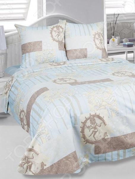 Комплект постельного белья Tete-a-Tete «Бомбей». 2-спальный2-спальные<br>Комплект постельного белья Tete-a-Tete Бомбей - необычайно нежный и красивый. Комплект станет украшением любой спальни и подарит крепкий и здоровый сон. Ваша постель будет выглядеть безупречно. Постельное белье под маркой Тет-а-Тет изготавливается из ткани с улучшенными потребительскими свойствами, рисунки создаются специально для этой продукции и часто обновляются в соответствии с последними тенденциями моды. Тет-а-Тет станет гармоничной частью Вашего интерьера и Вашей повседневной жизни. Это постельное белье будет долго радовать Вас, ведь оно не линяет, не садится, отлично выдерживает более 500 стирок. При изготовлении данной серии постельного белья, были использованы красители высшего качества, безопасные для здоровья и долговечные. Роскошное постельное белье очарует вас и великолепным образом преобразит вашу спальню. В комплекте:  пододеяльник 175 215;  простыня 220 220;  наволочка 70 70 2 шт .<br>