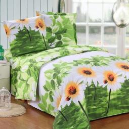 фото Комплект постельного белья Amore Mio Flora. Poplin. 1,5-спальный