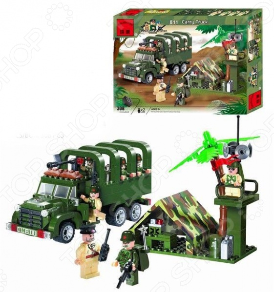 Конструктор игровой Brick Carry Truck с палаткой цена