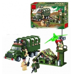 фото Конструктор игровой Brick Carry Truck с палаткой