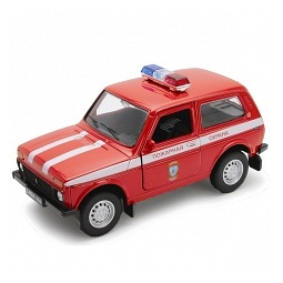 Купить Модель автомобиля 1:34-39 Welly LADA 4x4 «Пожарная охрана»
