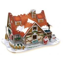фото Пазл 3D CubicFun с подсветкой «Рождественский домик 1»