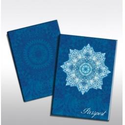фото Обложка для паспорта Феникс-Презент «Голубой узор»