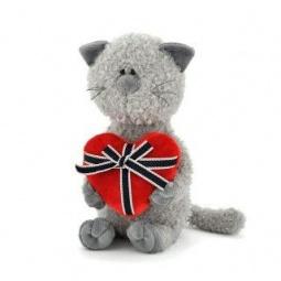 фото Мягкая игрушка для ребенка Orange «Кот Обормот с сердцем»