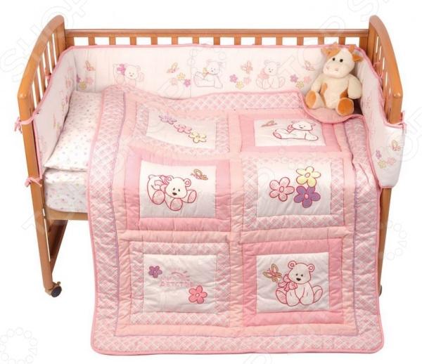 фото Комплект в кроватку Мир детства «Белый мишка», Постельные принадлежности для новорожденных