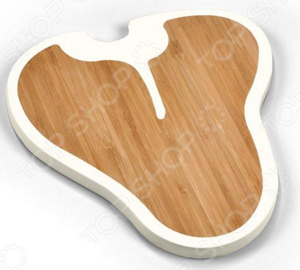 Доска разделочная Fred&amp;amp;Friends Prime CutsРазделочные коврики и доски<br>Доска разделочная Fred Friends Prime Cuts это традиционная доска из силикона и древесных волокон, которая является незаменимым предметом кухонной утвари. Бамбук представляет из себя прочный и гибкий материал, который легко выдерживает ежедневные нагрузки в виде нарезки мяса, рыбы, и овощей. Кроме того, доска из этого материала экологически чистая и не оставит вредных частиц на пище. Для уверенности в чистоте продуктов на вашей кухне стоит использовать несколько досок для каждого вида пищи, отдельную для рыбы, овощей, мясных изделий и прочего.<br>