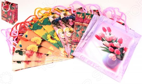 Набор подарочных пакетов Elan Gallery Цветы поможет вам достойно преподнести подарок к любому празднику. Ведь упаковка подарка это первое, что бросается в глаза. Этот оригинальный красочный пакет обязательно вызовет положительные эмоции и приятные ассоциации, а также подчеркнет торжественность случая. В набор входят 12 пакетов.