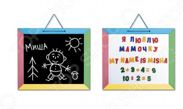 Доска магнитная для ребенка Десятое королевство комбинированная-4 десятое королевство обучающая игра набор букв русского алфавита цифры знаки