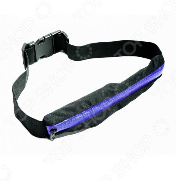 Сумка поясная Bradex Push PocketСумки поясные<br>Практичная и удобная сумка поясная Bradex Push Pocket раз и навсегда решит проблему хранения вещей первой необходимости во время пробежки или во время активных занятий спортом. Благодаря тому, что сумка удобно и плотно фиксируется на талии, вам больше не придется искать дополнительные карманы, что положить туда телефон, ключи или бутылку с водой. К тому же, если вы занимаетесь бегом или прыжками, карманы являются очень ненадежным местом хранения. Благодаря тому, что эластичный и тонкий ремень-кошелек закрывается на молнию, ваш смартфон или плеер не выпадет и не разобьется. С ним вы сможете не только заниматься фитнесом, но и кататься на роликах, коньках, велосипеде. Просто застегните сумку на талии и комфорт, безопасность вам обеспечены. Способ применения:  закрепите ремень вокруг талии или бедер, поверните сегмент в удобном для вас месте, сложите все необходимые вещи. Сумку необходимо стирать при температуре до 30 С, без использования агрессивных чистящих средств.<br>
