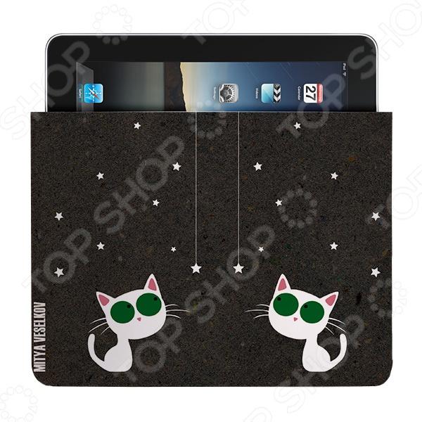 Чехол для iPad Mitya Veselkov «Кошка и звезды»