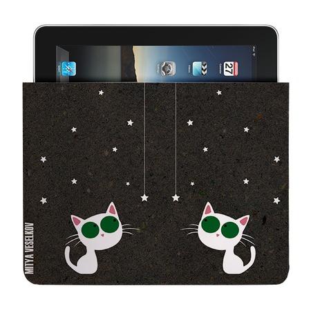 Купить Чехол для iPad Mitya Veselkov «Кошка и звезды»