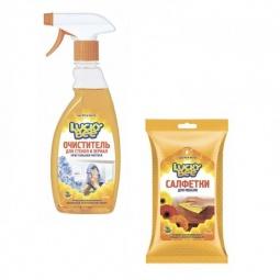 фото Набор для уборки Lucky Bee очиститель для стекол и зеркал LB 7507 и салфетки LB 7305