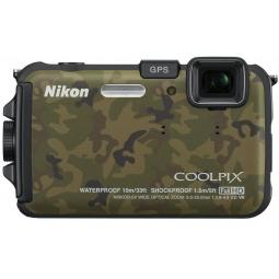фото Фотокамера цифровая Nikon CoolPix AW100. Цвет: зеленый