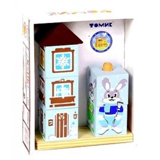 Купить Кубики обучающие Томик на палочке «Зайка»