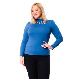 фото Водолазка Mondigo XL 417. Цвет: джинсовый. Размер одежды: 52