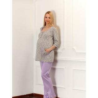 Купить Брюки домашние для беременных Nuova Vita 511.2. Цвет: лиловый