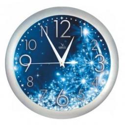 фото Часы настенные Вега П 1/7-231 «Снежинки»