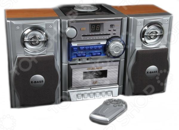 Магнитола Atlanta ATX-1455Магнитолы<br>Магнитола Atlanta ATX-1455 это современная аудио система, которая разработана для ежедневного использования. Представленная модель отлично справится с воспроизведением музыкальных компакт дисков и кассет. Также имеется функция FM AM-радиоприемника с частотным диапазоном 64-108 МГц. Чистый тембр и глубокий бас стерео колонок удовлетворят не только простого пользователя, но и искушенного музыкального гурмана. Для удобства использования имеется десятикнопочный пульт дистанционного управления.<br>