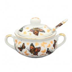 Купить Баночка для специй с ложкой Elan Gallery «Бабочки»