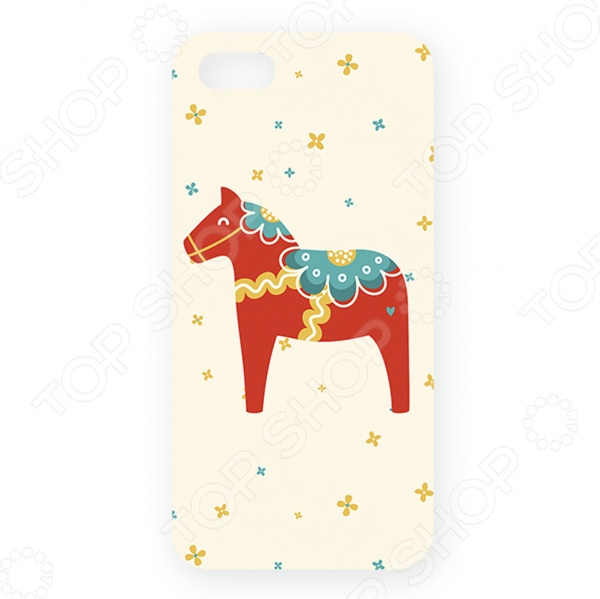 Чехол для iPhone 5 Mitya Veselkov «Скандинавская лошадка» mitya veselkov чехол для iphone 6 скандинавская лошадка