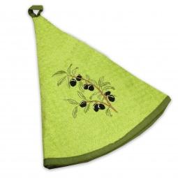 фото Полотенце кухонное Mariposa Olive. Рисунок: ветка оливы