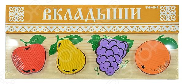 Игрушка развивающая Томик «Рамка-Вкладыш. Фрукты-ягоды» развивающая игрушка пластмастер счеты фрукты разноцветный
