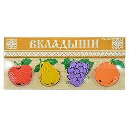 фото Игрушка развивающая Томик «Рамка-Вкладыш. Фрукты-ягоды»