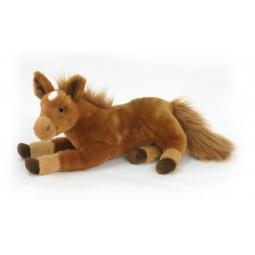 фото Мягкая игрушка для ребенка Hansa «Пони рыжий лежащий»