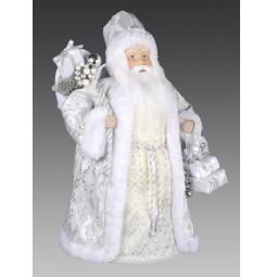 фото Игрушка новогодняя Holiday Classics «Дед Мороз с серебряными узорами и c подарками»