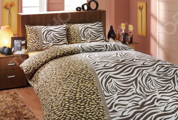 Комплект постельного белья Hobby Home Collection Virginia. Цвет: коричневый. 1,5-спальный1,5-спальные<br>Выбор постельного белья дело ответственное, ведь от его качества зависит то, насколько комфортно вы будете чувствовать себя. Не стоит отвлекаться на яркий и красочный дизайн, главное состав ткани! Постельное белье из синтетических волокон хоть более долговечно и очень красивое, но совсем не пропускает воздух и не отводит влагу. Поэтому, если вы не хотите просыпаться каждый раз в поту такое постельное белье стоит оставить для особых случаев. Однако не стоит увлекаться и изделиями из жестких натуральных тканей. Так, постельное белье с добавлением льна выглядит достаточно привлекательно и аутентично, но может доставить вашей чувствительной коже некоторый дискомфорт. Отличный выбор для комфортного сна! Комплект постельного белья Hobby Home Collection Virginia. Цвет: коричневый удивительно удобное и практичное постельное белье, которое удивит даже самых взыскательных покупателей. Этот комплект выполнен из уникального материала ранфорса, который отличается плотной и закрученной нитью и более плотным плетением. Ткань имеет около 57 переплетений нитей на один квадратный сантиметр. Это делает белье не только долговечным, но и очень мягким и гладким! Благодаря использованию волокон высококачественного 100 натурального хлопка, постельное белье экологично и совершенно безопасно для вашего здоровья. Легкая и гигроскопическая ткань практически не мнется, поэтому белье не собирается в грубые складки даже во время самого беспокойного сна.  Почему стоит выбрать этот комплект постельного белья  Натуральные хлопковые волокна являются неблагоприятной средой для размножения пылевых клещей и грибков.  Плотная и приятная на ощупь ткань не мнется и не деформируется, не электризуется.  Натуральный материал отлично впитывает влагу и прекрасно пропускает воздух, что обеспечивает оптимальный для вашего тела микроклимат. Летом в на таком постельном белье будет прохладно, а зимой тепло.  Не д