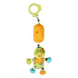 фото Игрушка подвесная Жирафики 93925 «Динозаврик с колокольчиком»