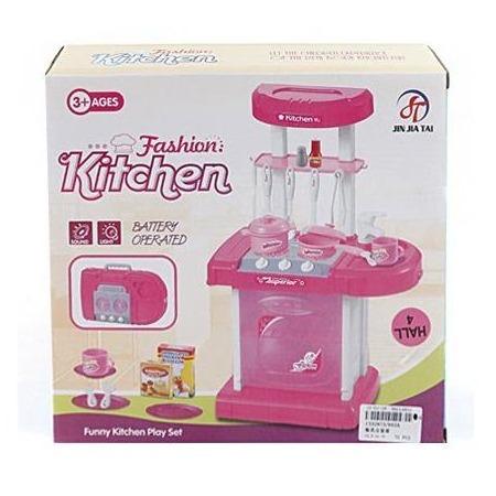 Купить Игровой набор для девочки Shantou Gepai «Портативная кухня с набором посуды»