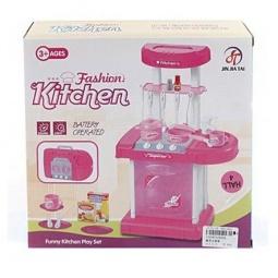 фото Игровой набор для девочки Shantou Gepai «Портативная кухня с набором посуды»