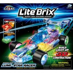 фото Конструктор игровой со световыми эффектами Lite Brix «Гоночный автомобиль»