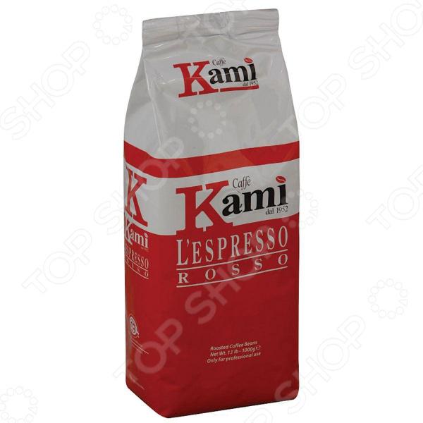 Кофе в зернах Kami RossoКофе в зернах<br>Кофе в зернах Kami Rosso для любителей бодрящего и ароматного кофе. Колумбийские зерна для приготовления традиционного напитка ристретто, эспрессо и капучино. Вкус с нотками горького шоколада. Чашка настоящего кофе прекрасное наслаждение в любое время.<br>
