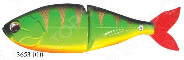 Приманка Cottus Воблер Obese Joint Hunter 3653 замечательный помощник в процессе рыбной ловли. Изделие создано с особым вниманием к деталям и прекрасно справляется с имитацией обитателя водоема. В результате хищная рыбка не устоит перед видом приманки и попадется на удочку. Главное, подобрать подходящую технику ловли. Пополните свою коллекцию рыболовных снастей, и отличный улов вам обеспечен.  Внутри есть шарики, создающие шумовой эффект, что привлекает рыбу.  3D глаза.  Тройники Mustad.  Заводное кольцо S-образного типа.