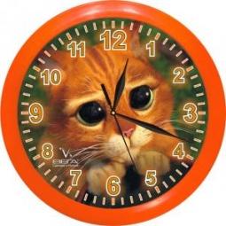 Купить Часы настенные Вега П 1-1/7-127 «Кот»