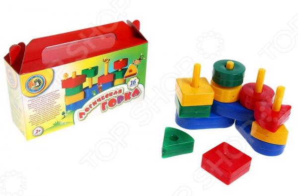 Игра развивающая для малыша Строим вместе «Логическая горка» наборы для рисования лавка чудес развивающая игра собери и раскрась истребитель