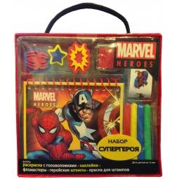 Купить Набор супергероя (+ фломастерами, штампы и наклейки)