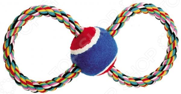 Игрушка для собак DEZZIE «Восьмерка-теннис» игрушка канатная mrpet восьмерка с мячем цвет желтый красный 25 см