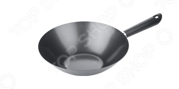 Сковорода вок Tescoma CantonВоки<br>Сковорода вок Tescoma Canton - практичная и качественная модель предназначена для приготовления широкого спектра блюд. Благодаря антипригарному покрытию на сковороде можно тушить овощи, мясо и рыбу с минимальным использованием растительного масла. Равномерное распределение тепла способствует ускорению процесса приготовления блюд, при этом сохраняются все полезные вещества и витамины. Сковорода оснащена удобной ручкой, которая прикреплена особым образом и не нагревается в процессе готовки. Это делает процесс приготовления удобным и безопасным.<br>