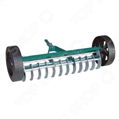 Грабли аэраторные на колесах Raco 4230-53843 веерные грабли truper 14326