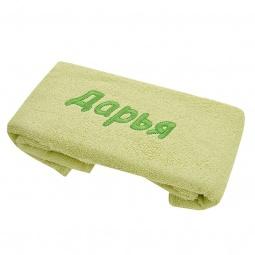 фото Полотенце подарочное с вышивкой TAC Дарья. Цвет: зеленый