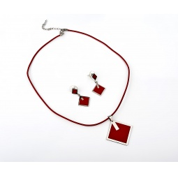 фото Комплект Courtney G Ромб. Цвет: красный