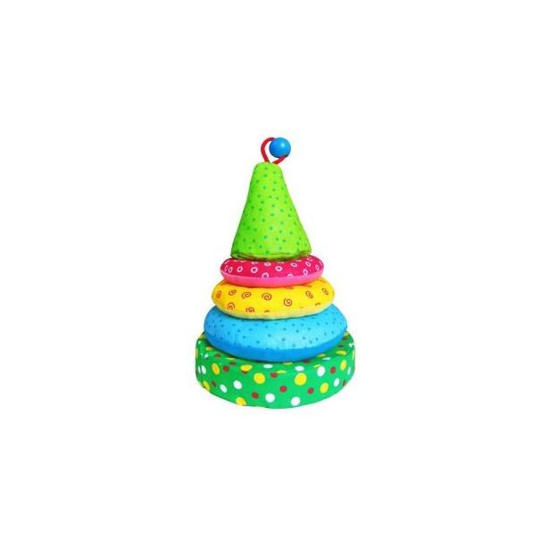 фото Игрушка-пирамидка мягкая Мякиши 2341. В ассортименте