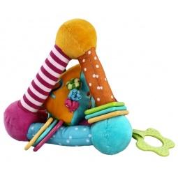 фото Мягкая игрушка развивающая Жирафики «Треугольник с прорезывателями»