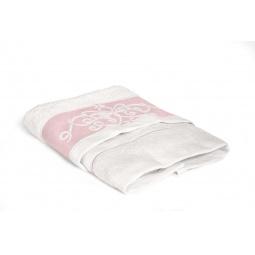 фото Полотенце Tete-a-Tete махровое Т-МП-6463. Размер: 50х90 см. Цвет: розовый, белый